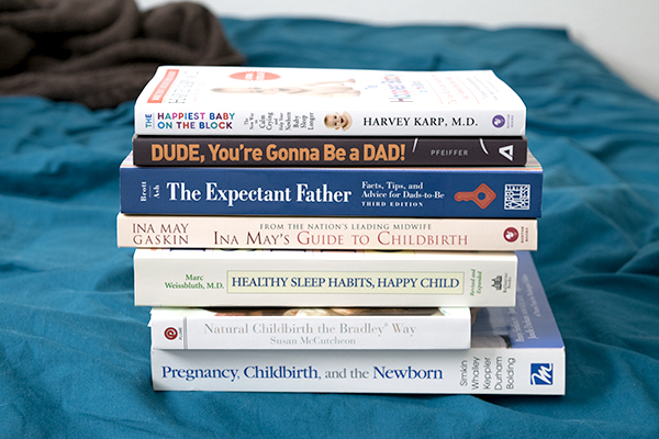 stack of baby books